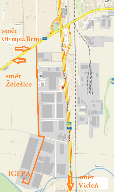 Mapka filiálka Brno